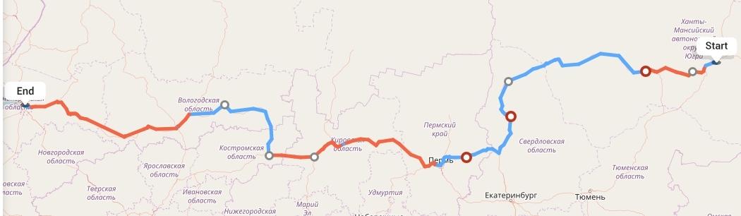 Переезд из Сургута в Санкт-Петербург