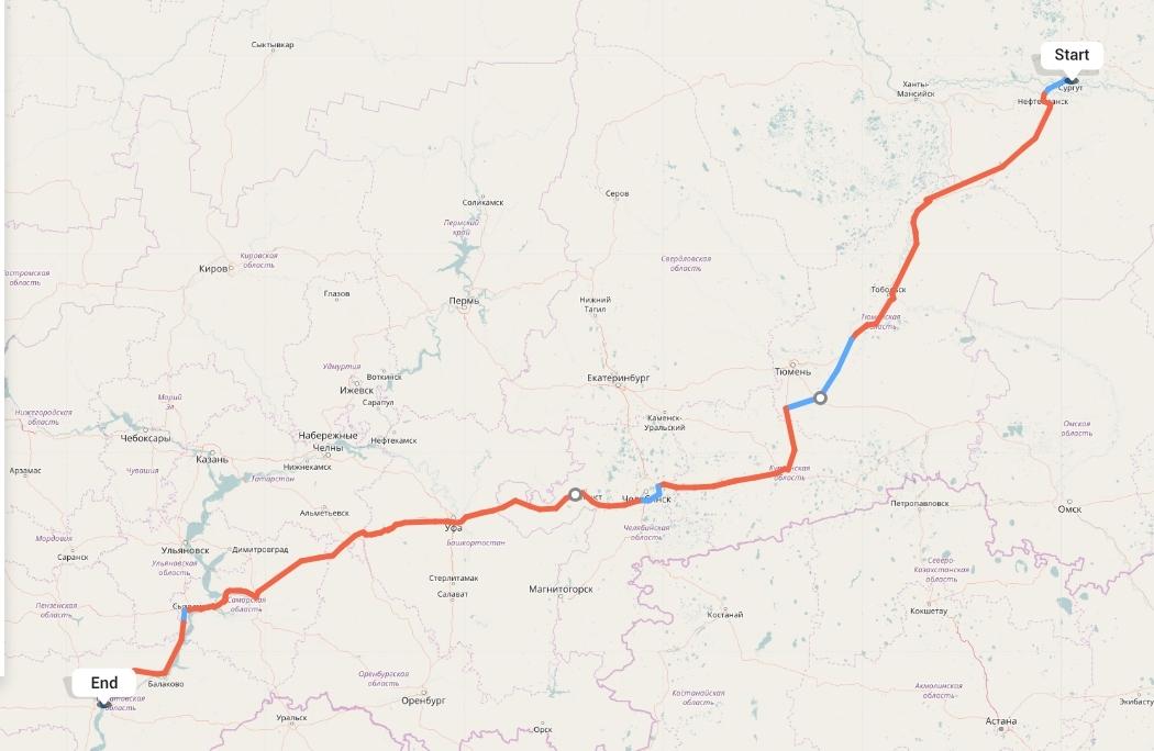 Переезд из Сургута в Саратов