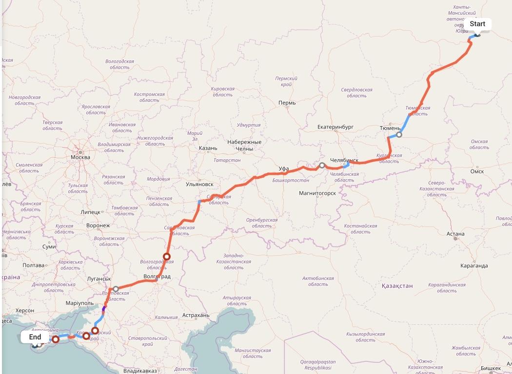 Переезд из Сургута в Севастополь