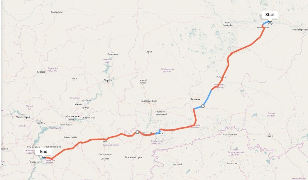 Переезд из Сургута в Тольятти