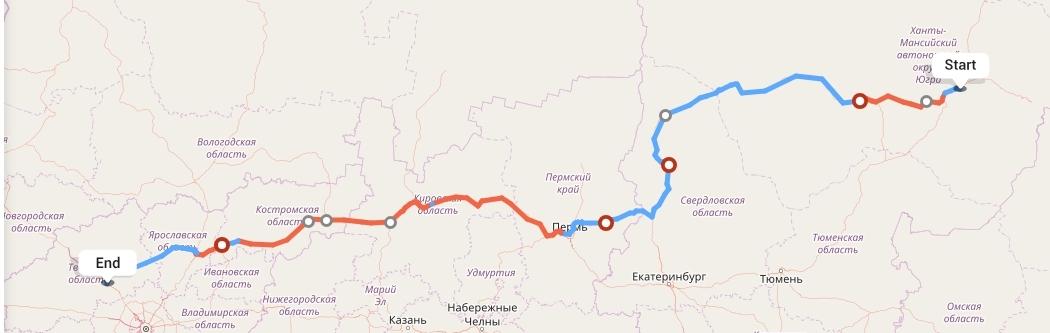 Переезд из Сургута в Тверь