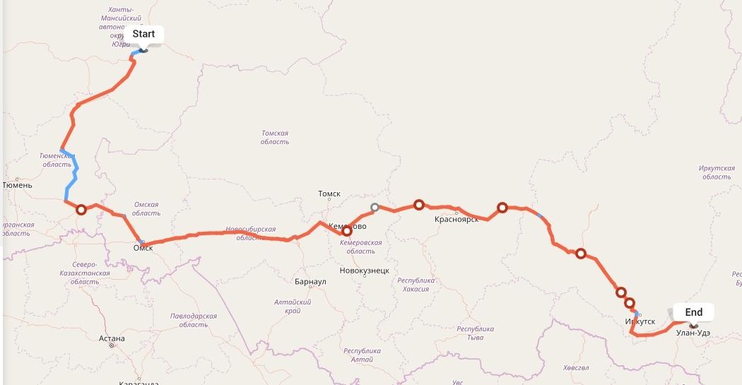 Переезд из Сургута в Улан-Удэ