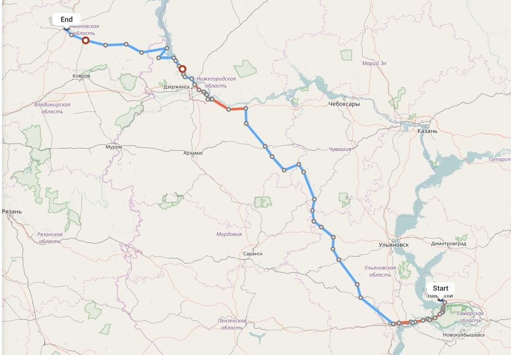 Переезд из Тольятти в Иваново