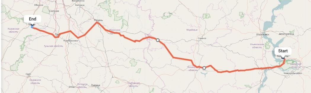 Переезд из Тольятти в Калугу