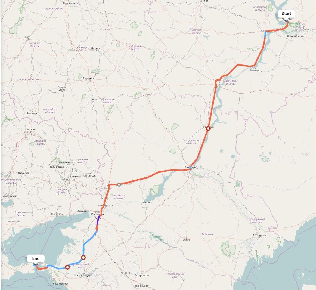 Переезд из Тольятти в Керчь