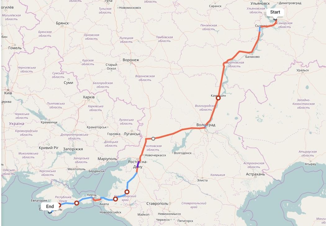 Переезд из Тольятти в Севастополь