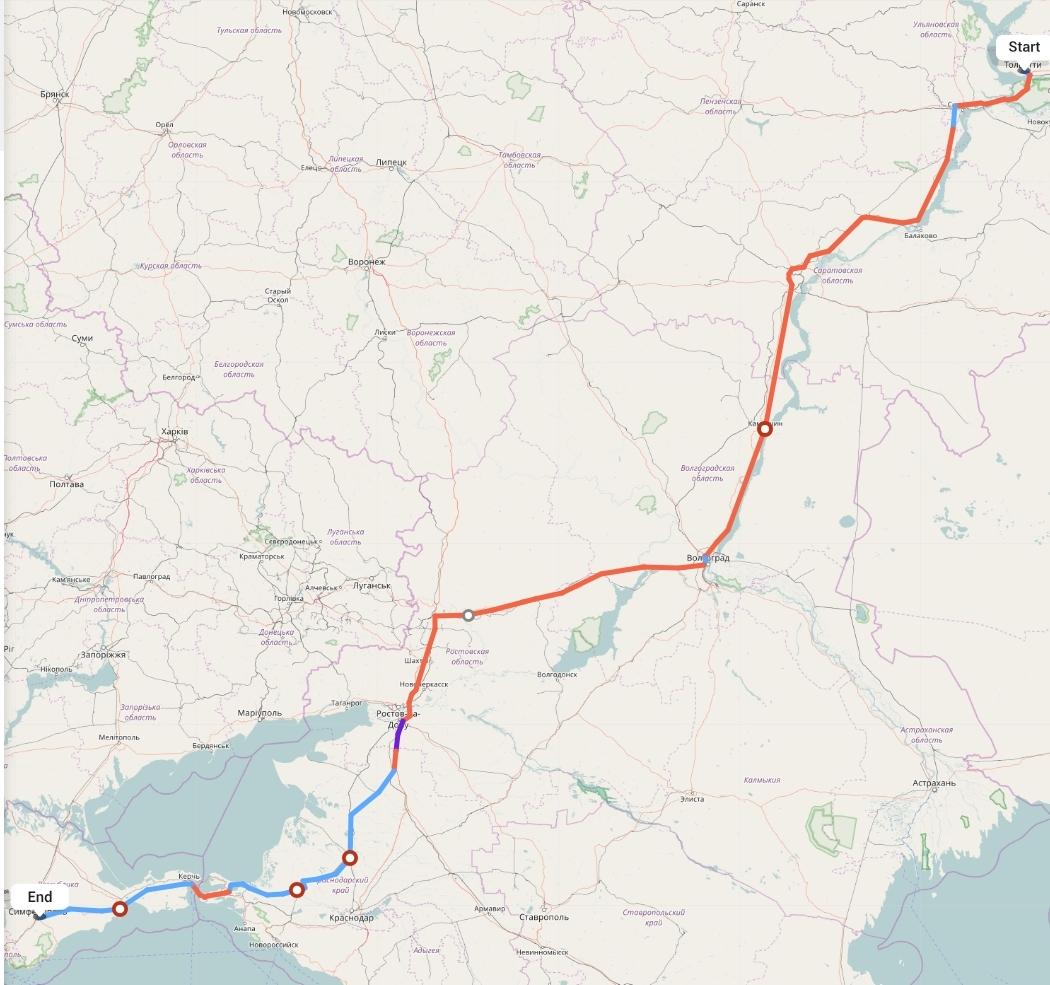 Переезд из Тольятти в Симферополь