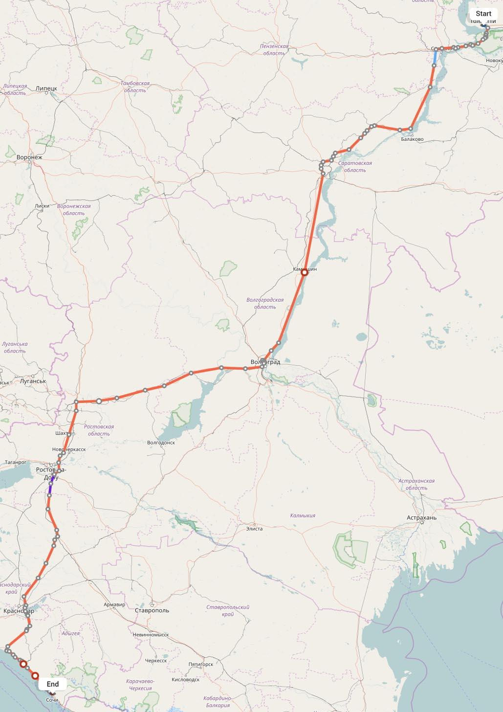 Переезд из Тольятти в Сочи