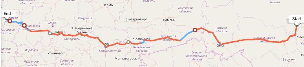 Переезд из Томска в Иваново