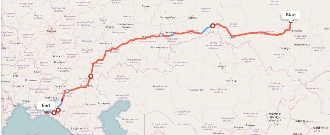 Переезд из Томска в Керчь