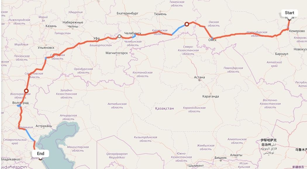Переезд из Томска в Махачкалу