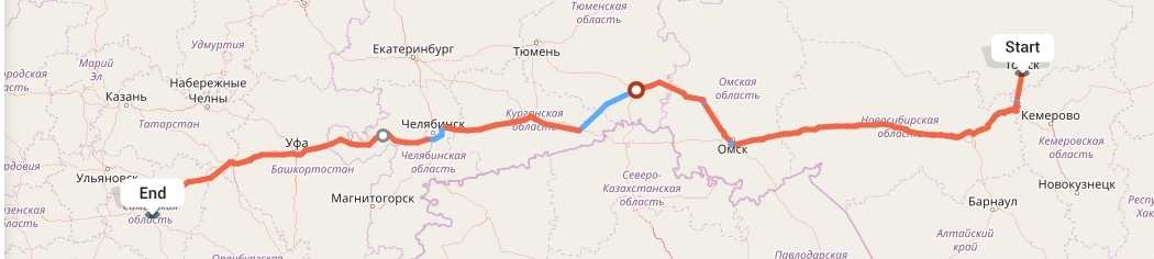 Переезд из Томска в Самару