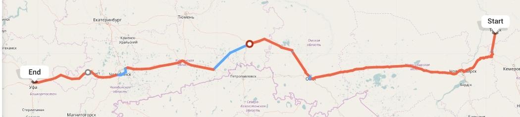 Переезд из Томска в Уфу