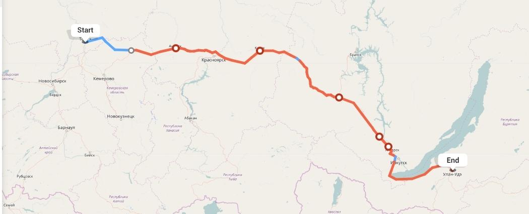 Переезд из Томска в Улан-Удэ
