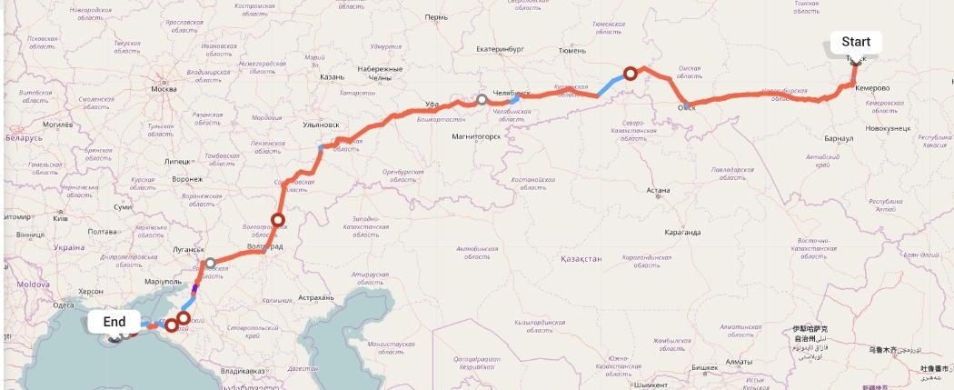 Переезд из Томска в Ялту