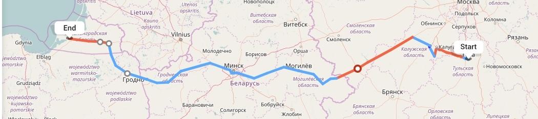 Переезд из Тулы в Калининград