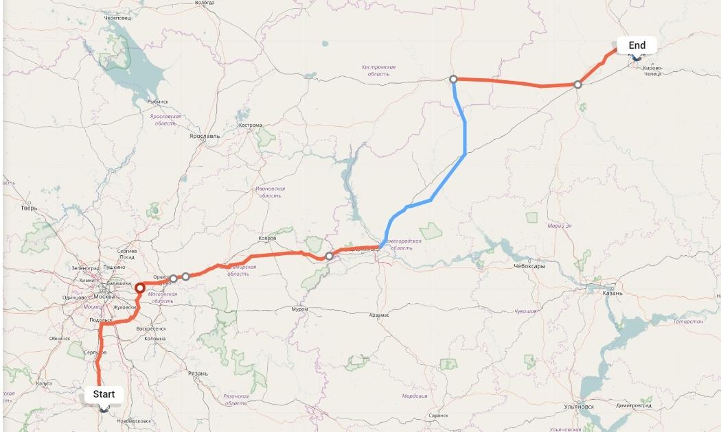 Переезд из Тулы в Киров