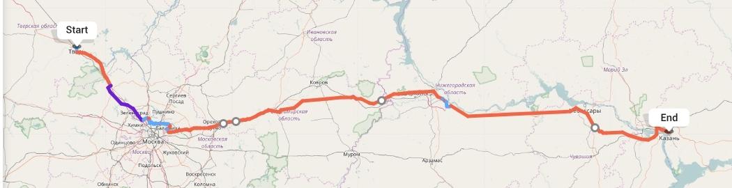 Переезд из Твери в Казань
