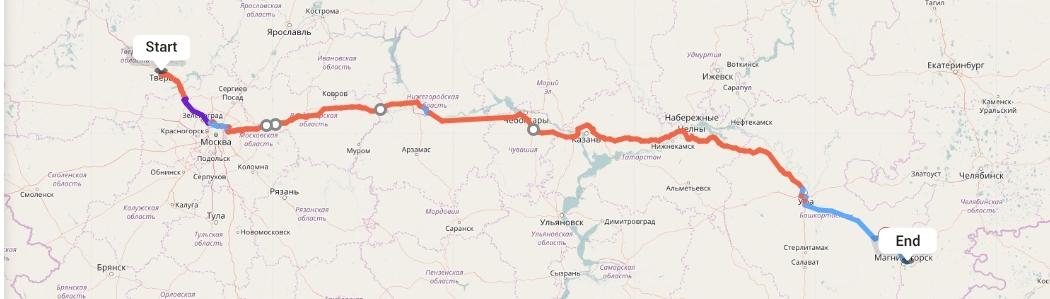 Переезд из Твери в Магнитогорск