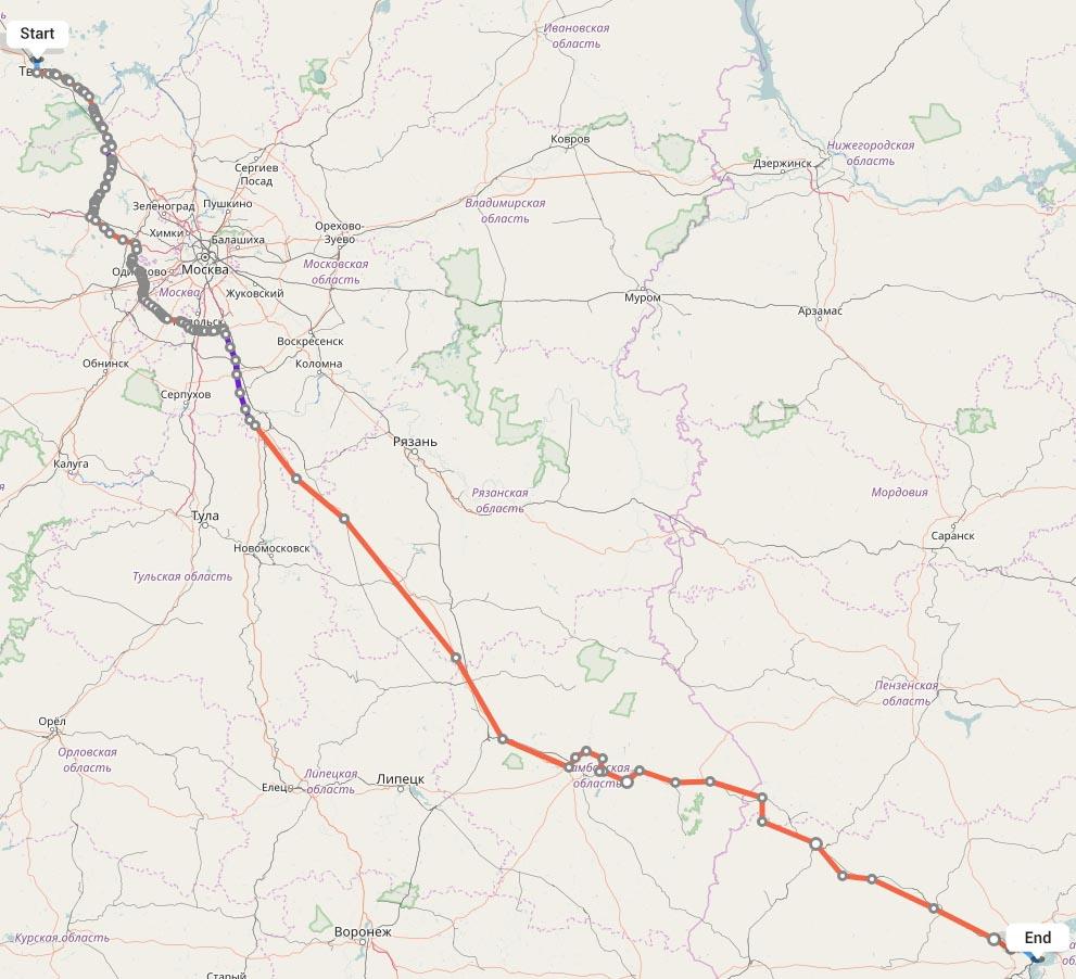 Переезд из Твери в Саратов