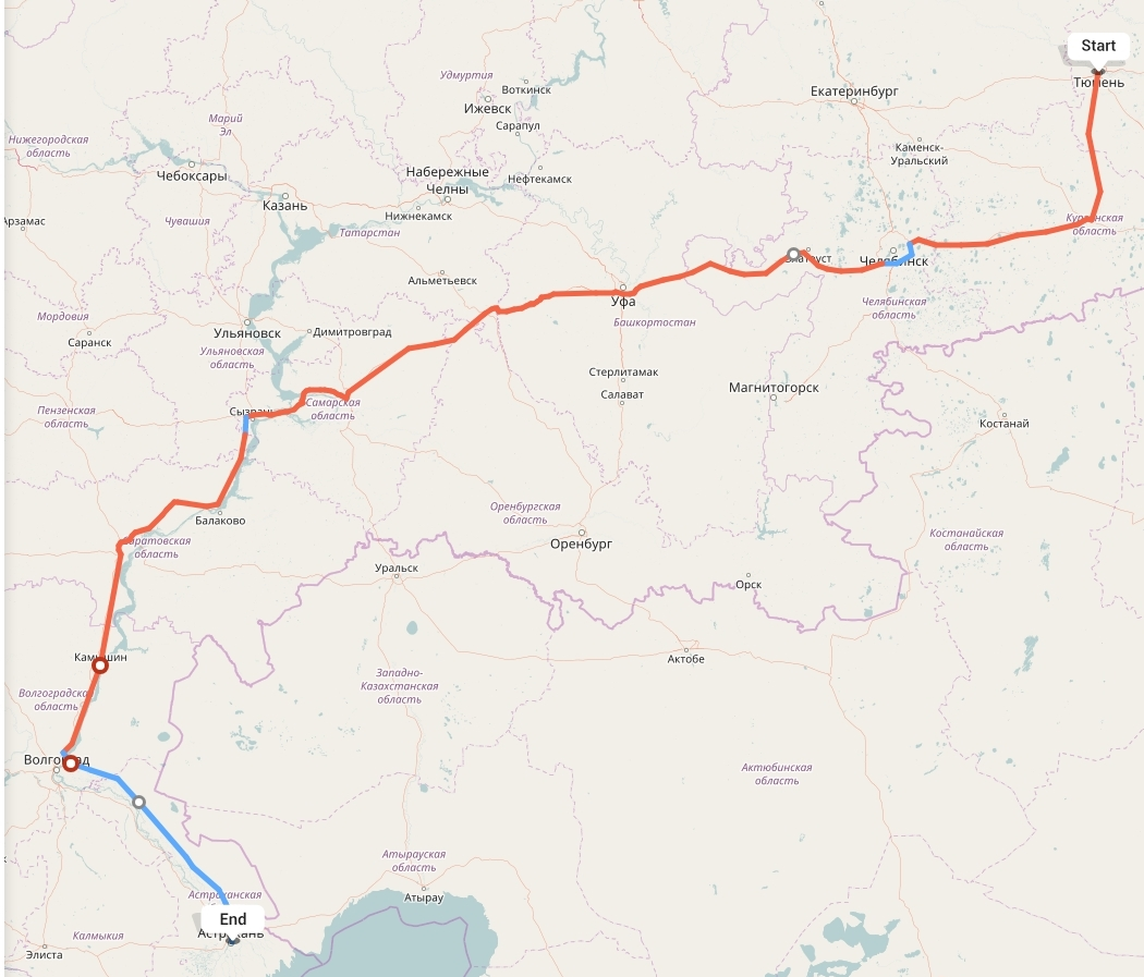 Переезд из Тюмени в Астрахань
