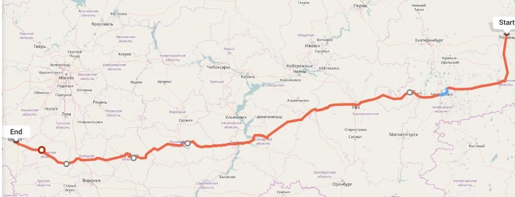 Переезд из Тюмени в Брянск