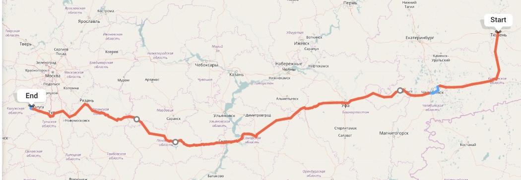 Переезд из Тюмени в Калугу