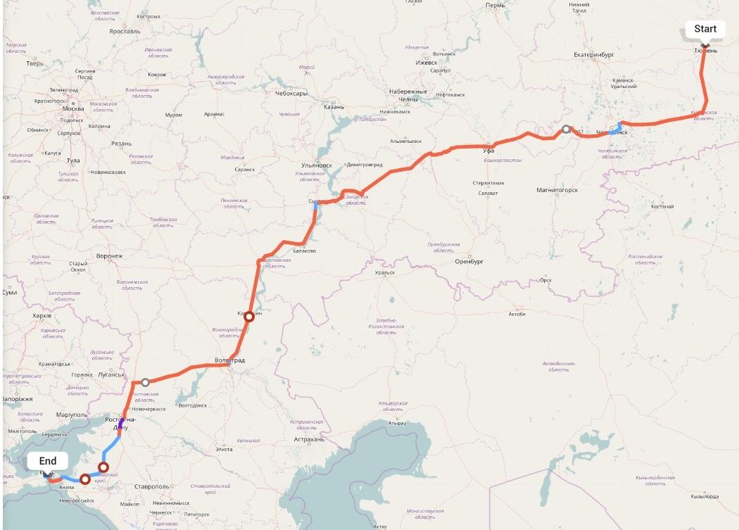 Переезд из Тюмени в Крым