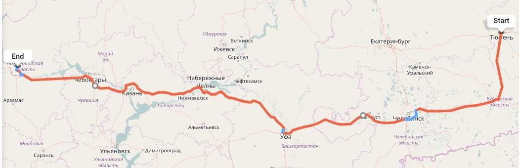Переезд из Тюмени в Нижний Новгород