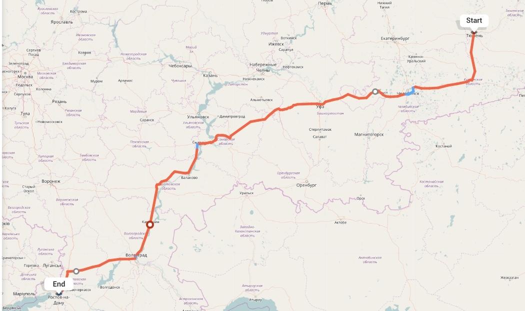 Переезд из Тюмени в Ростов-на-Дону