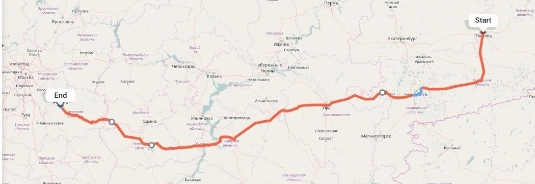 Переезд из Тюмени в Рязань