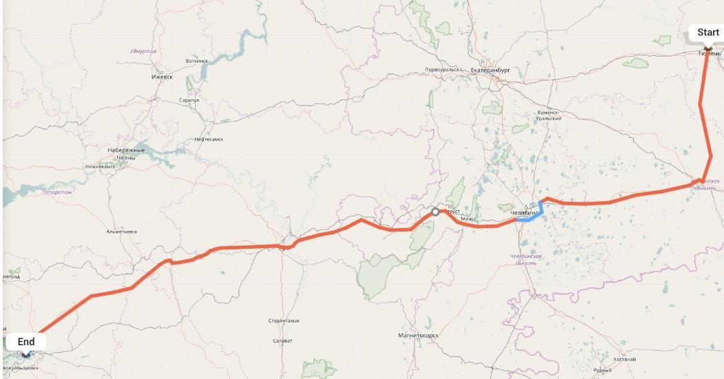 Переезд из Тюмени в Самару