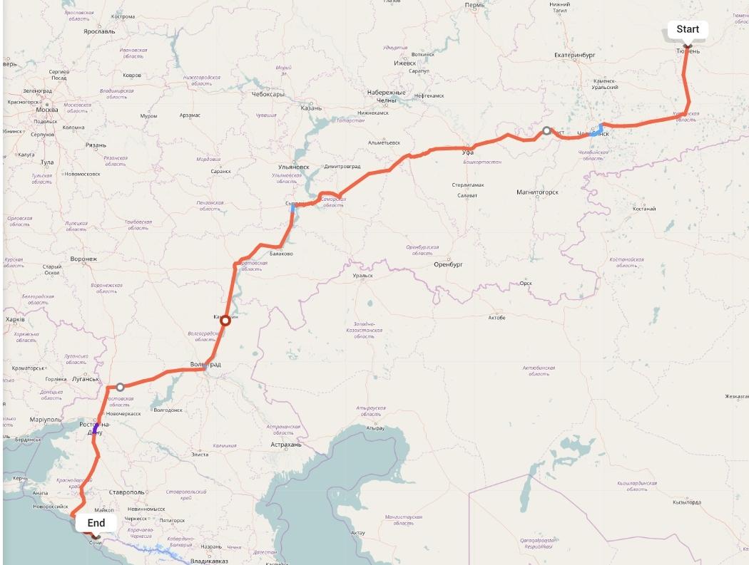 Переезд из Тюмени в Сочи
