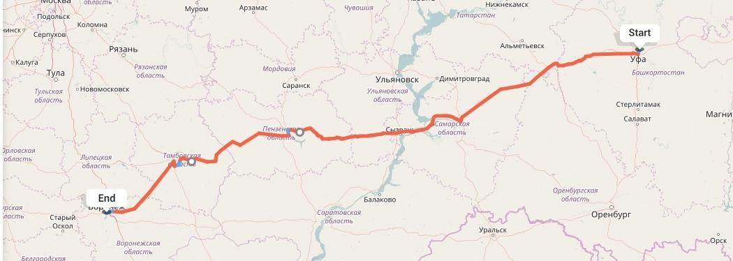 Переезд из Уфы в Воронеж