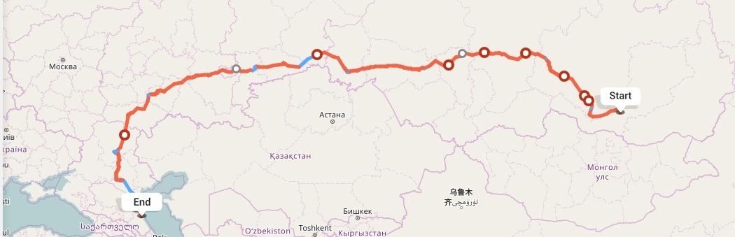 Переезд из Улан-Удэ в Махачкалу