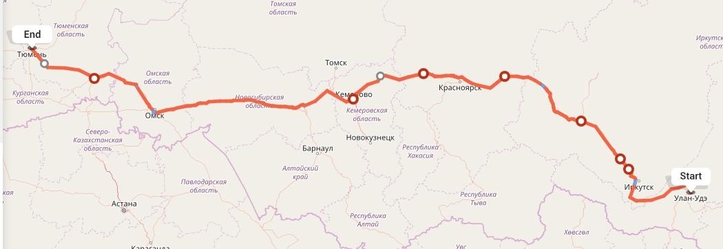 Переезд из Улан-Удэ в Тюмень