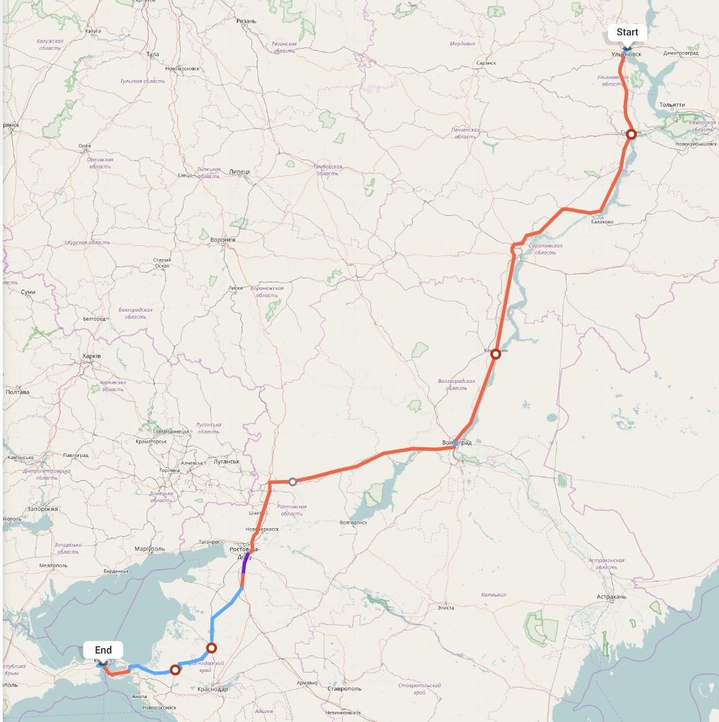Переезд из Ульяновска в Керчь