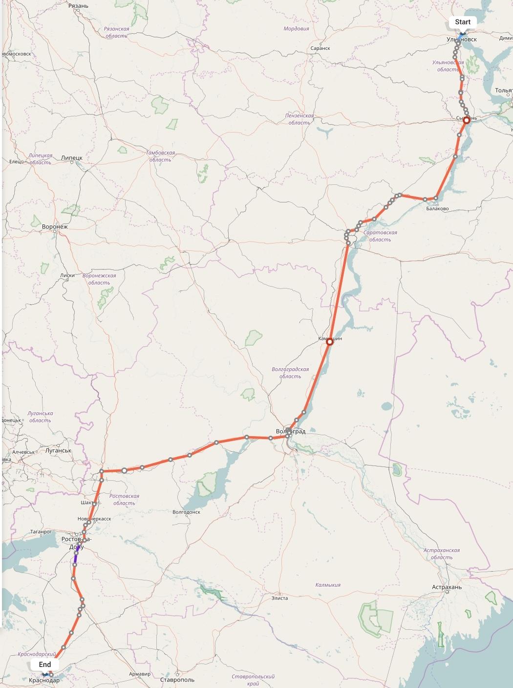 Переезд из Ульяновска в Краснодар