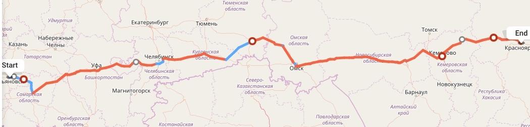 Переезд из Ульяновска в Красноярск