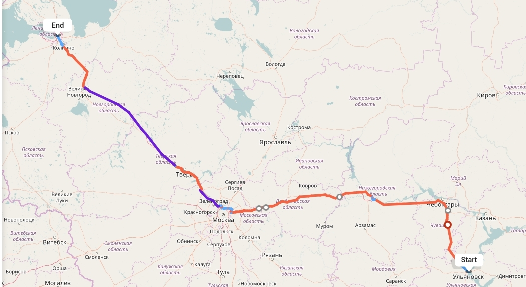 Переезд из Ульяновска в Санкт-Петербург