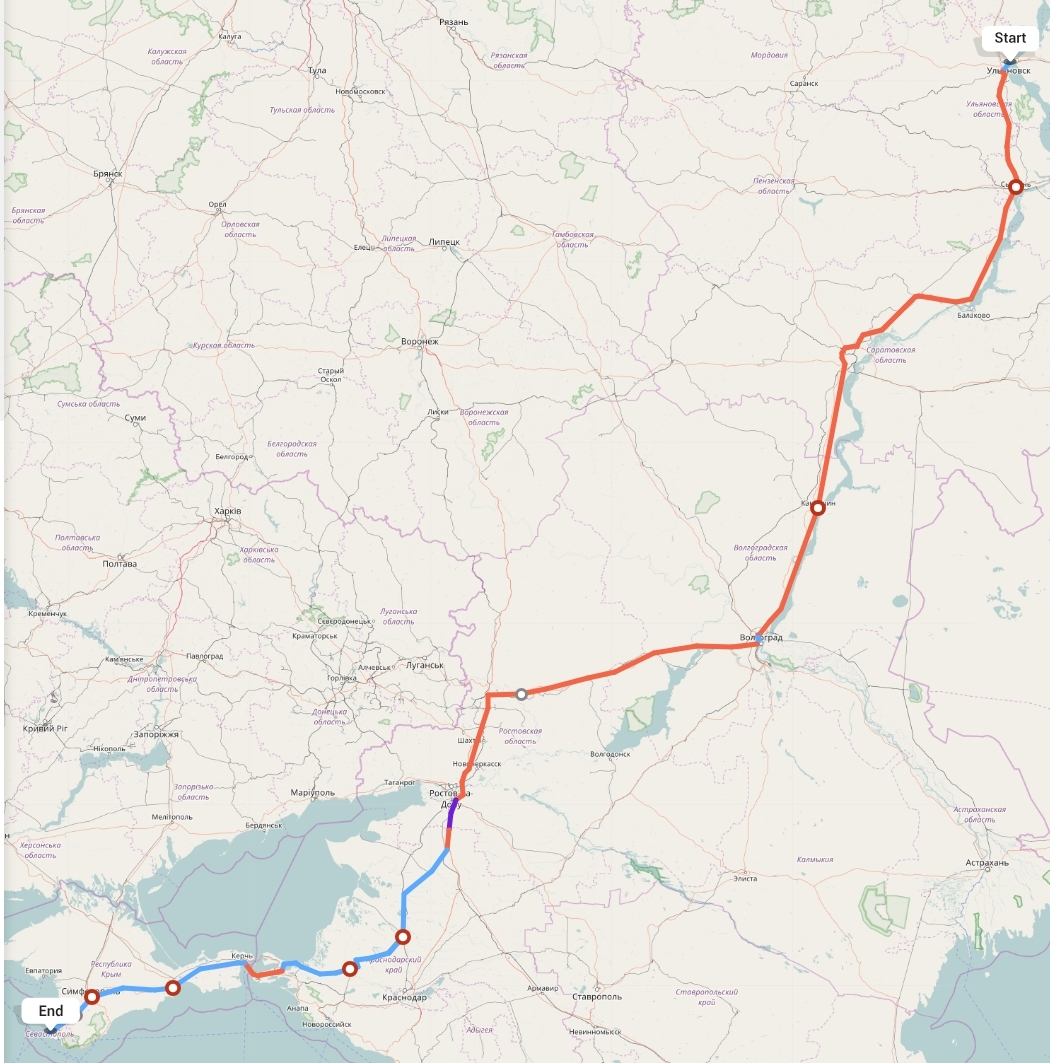 Переезд из Ульяновска в Севастополь