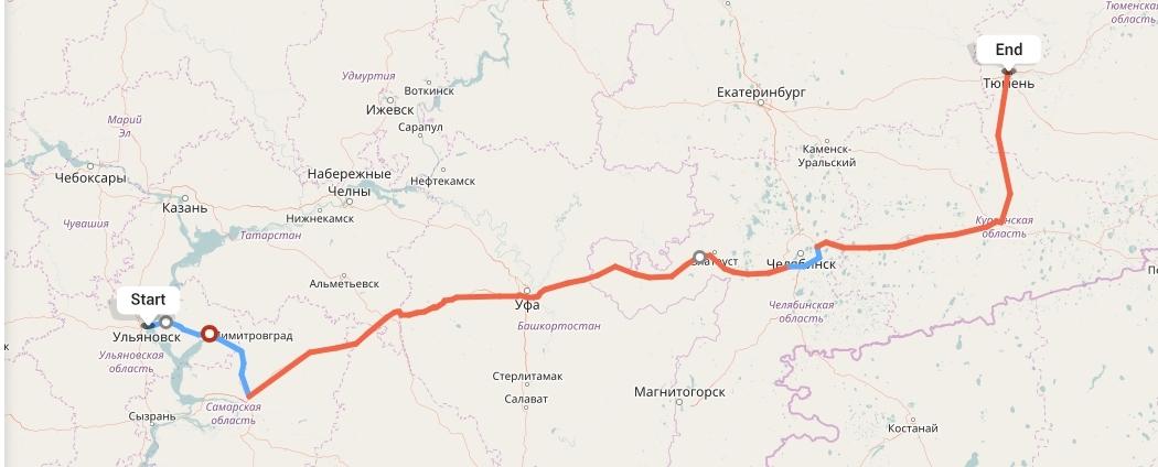 Переезд из Ульяновска в Тюмень