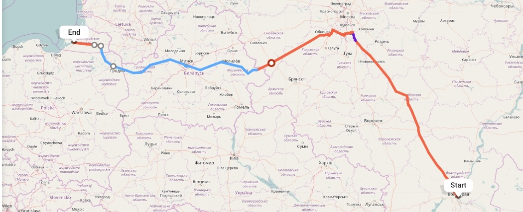 Переезд из Волгограда в Калининград