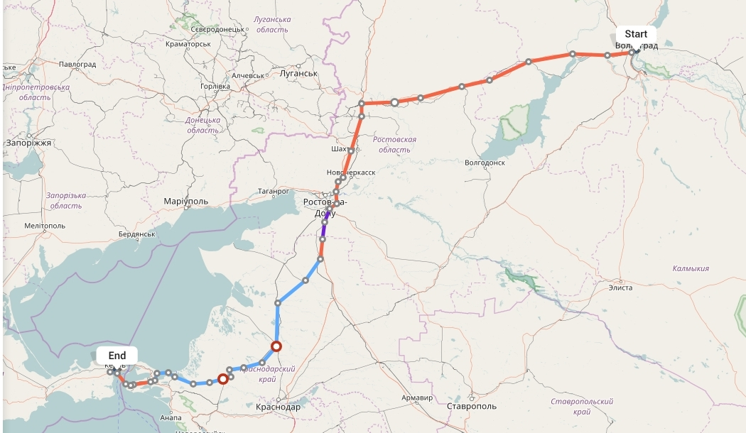 Переезд из Волгограда в Крым