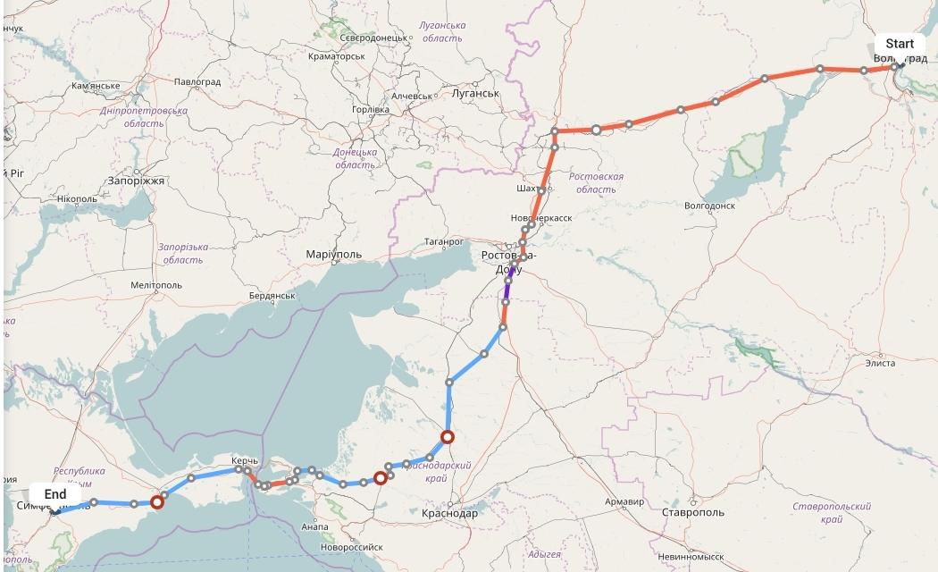 Переезд из Волгограда в Симферополь