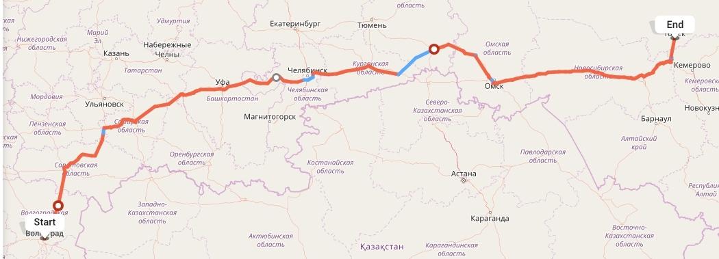 Переезд из Волгограда в Томск
