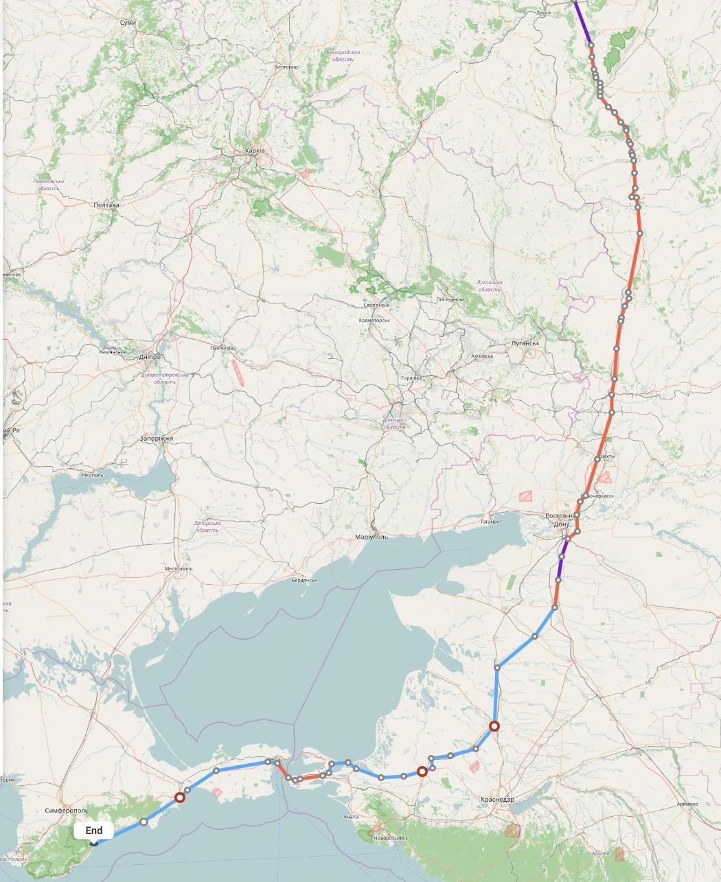Переезд из Воронежа в Алушту