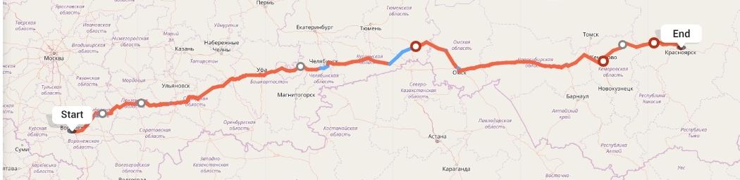 Переезд из Воронежа в Красноярск