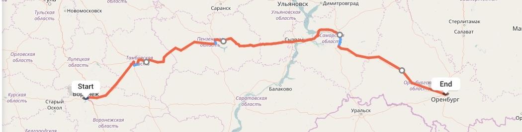 Переезд из Воронежа в Оренбург