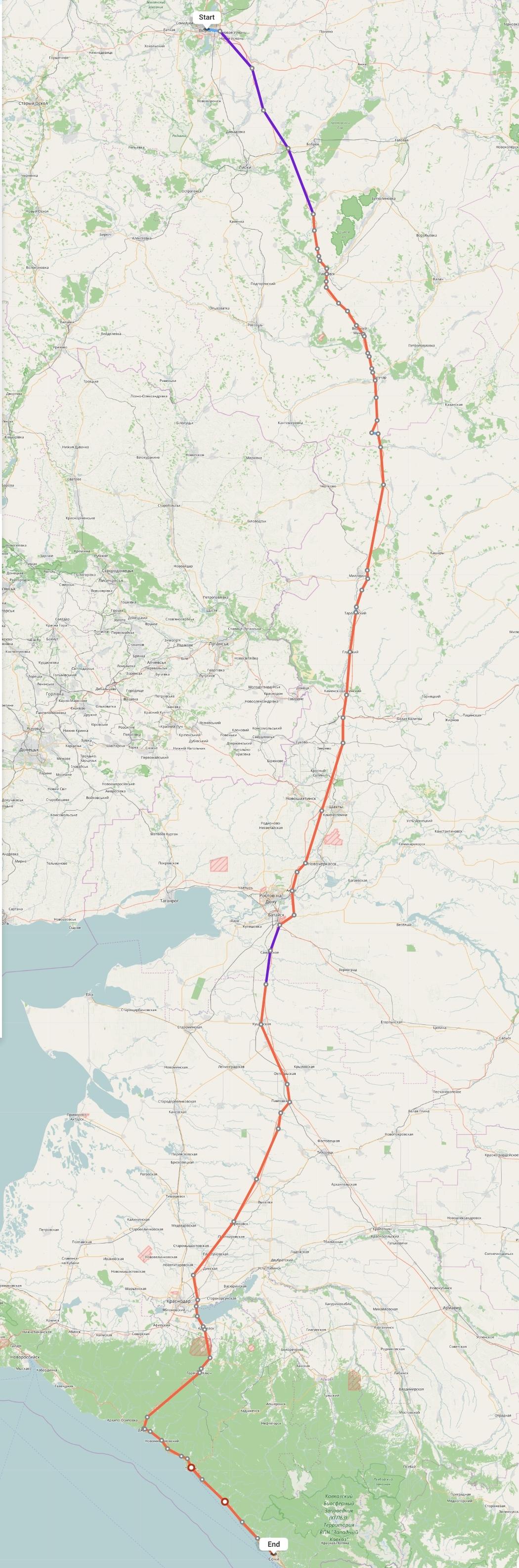 Переезд из Воронежа в Сочи